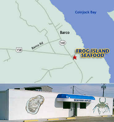Frog Island Seafood location